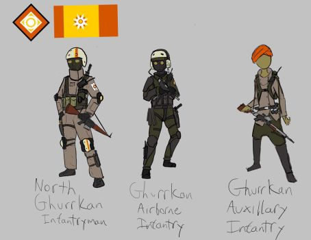 Ghurrkan Infantry by woundedskies