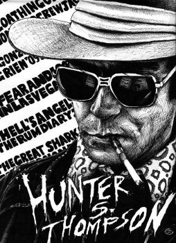 Hunter S. Thompson by magnetic-eye
