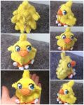 Chocobo Plush Keyring  by DynamicFlamez