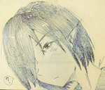 (PROMOTION)Pen Headshot $5/500p Commission Example by KichounaY