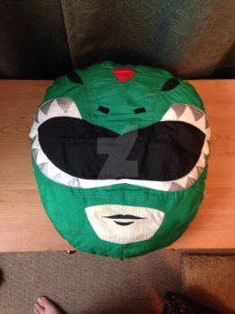 Green Ranger Pillow by BanishFromSanctuary