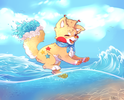 Against the waves (DTA) by VlLHO