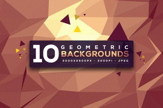 10 Free Geometric Backgrounds by hugoo13