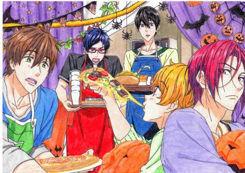 Free! Halloween party by kazekage121