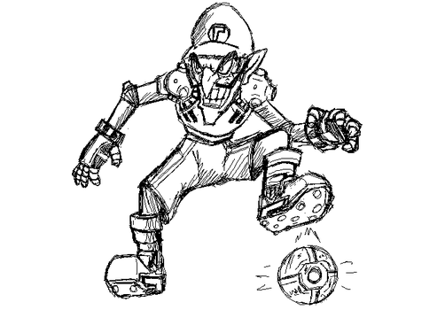 Mariostrikerschargedfootball deviantart for Mario strikers coloring pages