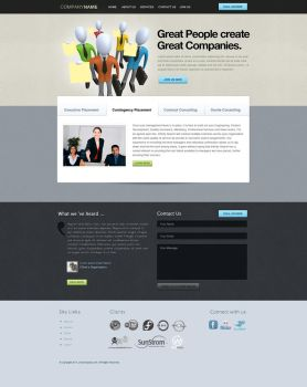 Recruiting website PSD by View9