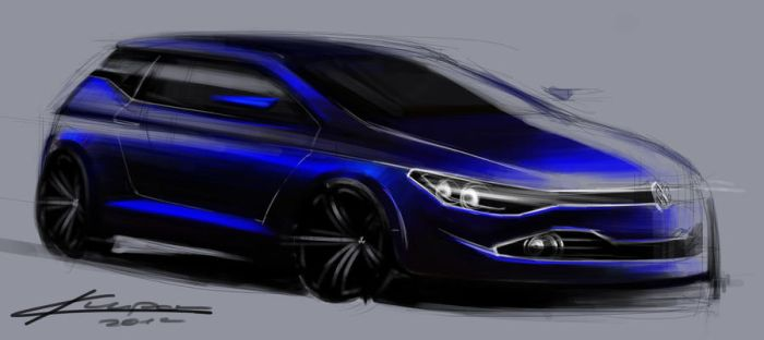 vw golf sketch by Chrupson