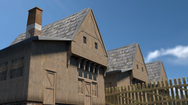 Medieval Village by divithan