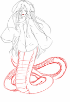 Wip lamia by shawn1013