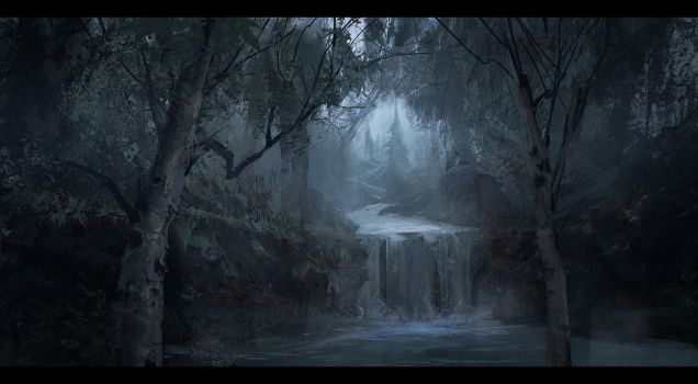 Foggy Forest by Lapec