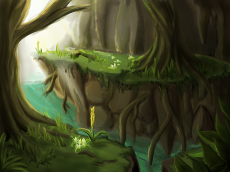 Green Forest Environment Practice by DragonLoreStudios