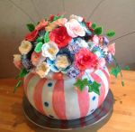 Bowl of flowers cake, finished! by Shoshannah84
