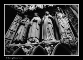 Statues at Notre Dame, Paris by inessentialstuff