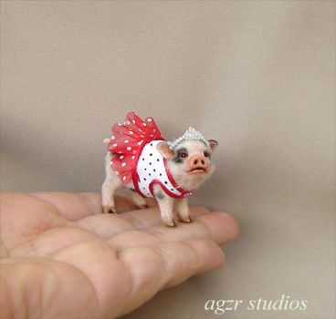 Handmade dressed Piglet by AGZR-STUDIOS