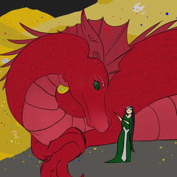 Dragons are good listeners by HellHoundKeeper