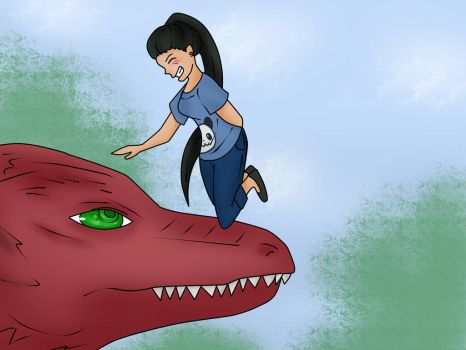Ehtha and the red dragon by EhthaP