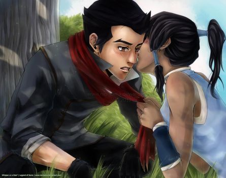 Makorra: Whisper or a Kiss? by niolynn