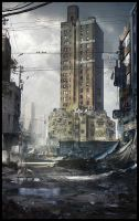 Deserted city by Scoobylt