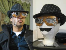 Steampunk style goggles by PunkBouncer