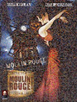 Moulin Rouge Photomosaic by DolfD