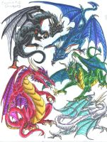 Chromatic Dragons by Tibby101