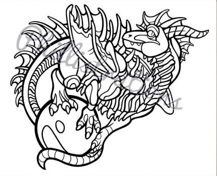 Pearl Hoarder Coloring Page by Phillistrations