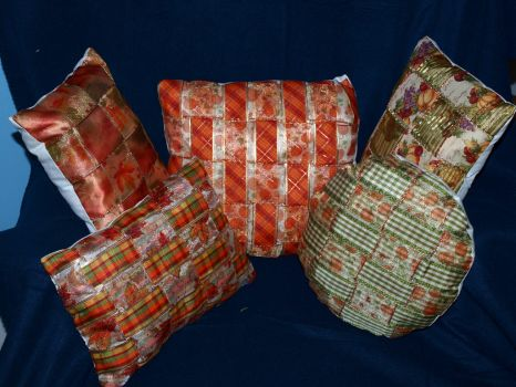 Fall Pillows by KnightMoor
