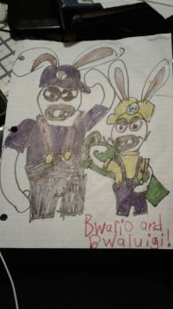 Bwario And Bwaluigi!  by AlvinMunk500