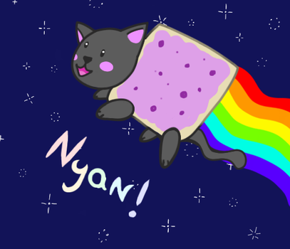 Nyan cat by Nakeindo