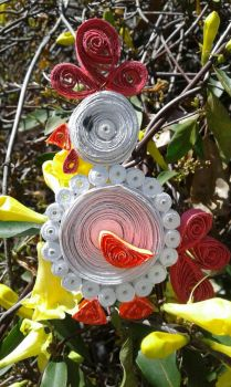Rooster quilled by crochetamommy