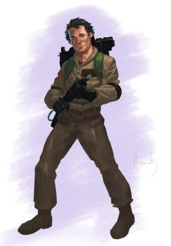 Ghostbuster Venkman color by UltimateRubberFool