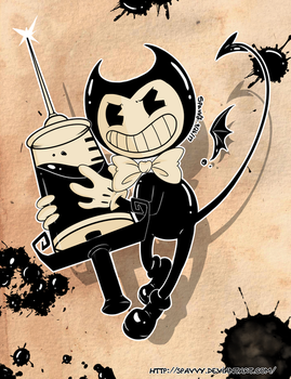 Bendy and the Ink Machine + Speedpaint by SpavVy