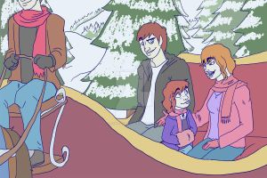 Advent 2- Sleigh Ride by Backwardstwin2