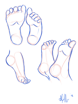 Foot practice by TussyTot