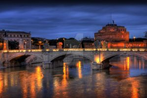 Castel Sant'Angelo by night by morphine9L