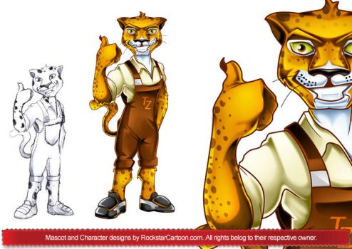 Some Character Mascot designs by RockStarCartoon