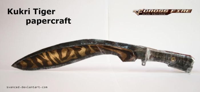 Crossfire Kukri Tiger Papercraft + DOWNLOAD added by svanced