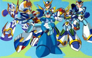 Megaman X Armor Collection by Spyke89