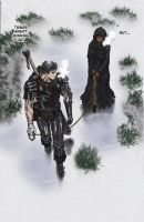 Gattsu and Casca in the rain by DrPepperPro