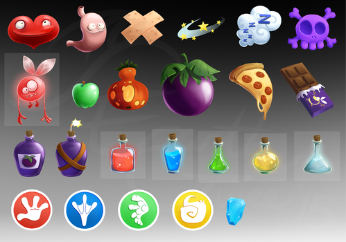 Rayman RPG Icons by EarthGwee