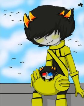 Mituna and Sollux Captor by knuklestheechidna