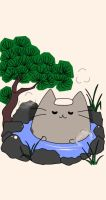 :Gift: Bathing Pusheen by pansy88