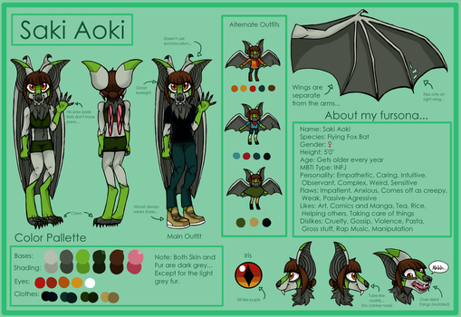 Saki the Bat Reference Sheet by IntuitiveInks