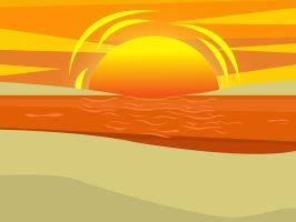 TD Beach Sunset Bg-Usable by TheRScrooge