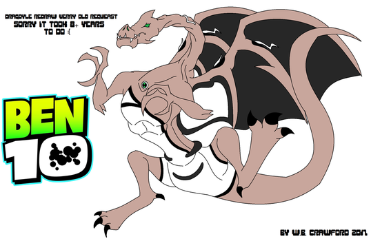 Ben10 Requeast Fan Alien Redraw Dragoyle by frgrgrsfgsgsfgggsfsf