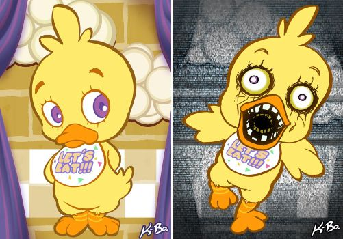 Five Nights at Freddy's Art Card 3 Chica by kevinbolk
