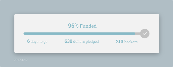 Daily UI #032 - Crowdfunding Progress by Terrance8d