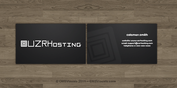 UZRHosting Business Cards by CMSVisuals