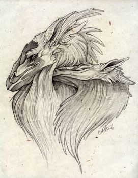 Pencil Dragons by caramitten