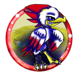 Kawcaw the FalconChicken by AngelCnderDream14